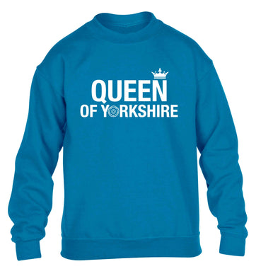 Queen of Yorkshire children's blue sweater 12-13 Years