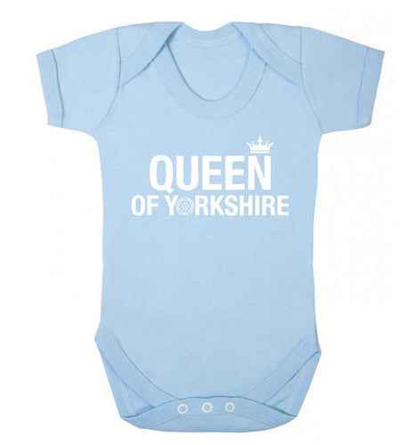 Queen of Yorkshire Baby Vest pale blue 18-24 months