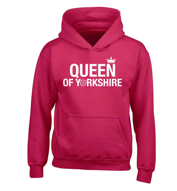 Queen of Yorkshire children's pink hoodie 12-13 Years