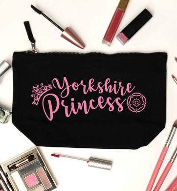 Yorkshire Princess black makeup bag
