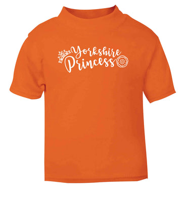 Yorkshire Princess orange Baby Toddler Tshirt 2 Years