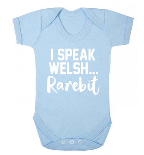I speak Welsh...rarebit Baby Vest pale blue 18-24 months