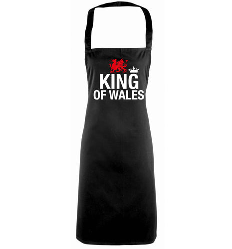 King of Wales black apron