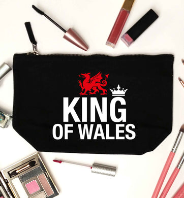 King of Wales black makeup bag