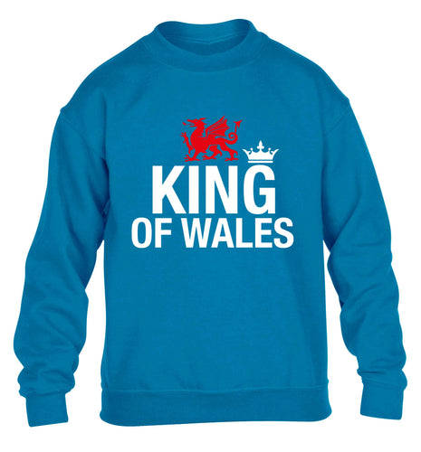 King of Wales children's blue sweater 12-13 Years