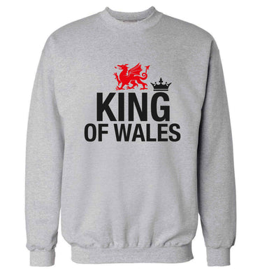 King of Wales Adult's unisex grey Sweater 2XL