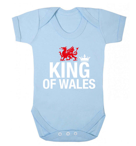 King of Wales Baby Vest pale blue 18-24 months