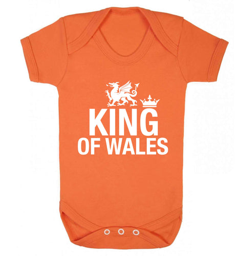 King of Wales Baby Vest orange 18-24 months