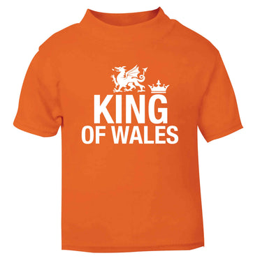 King of Wales orange Baby Toddler Tshirt 2 Years