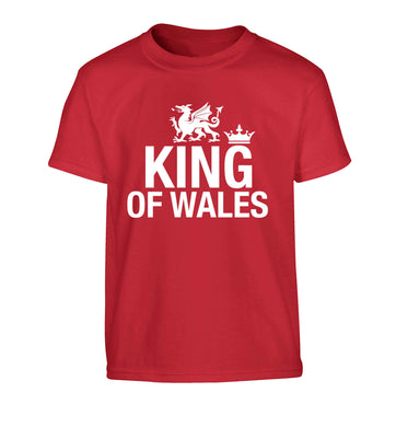 King of Wales Children's red Tshirt 12-13 Years