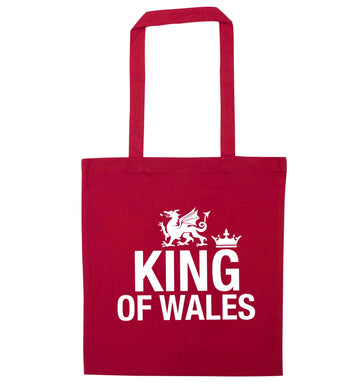 King of Wales red tote bag