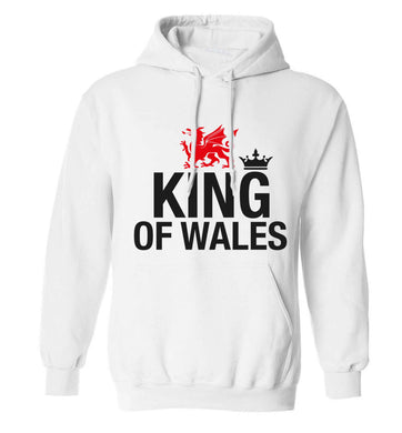 King of Wales adults unisex white hoodie 2XL