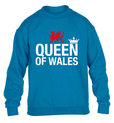 Queen of Wales children's blue sweater 12-13 Years
