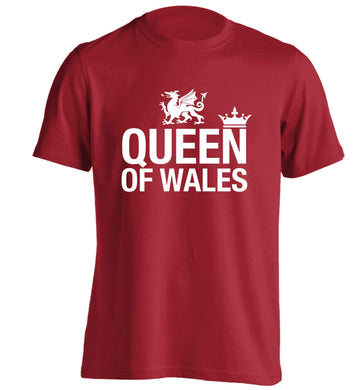 Queen of Wales adults unisex red Tshirt 2XL