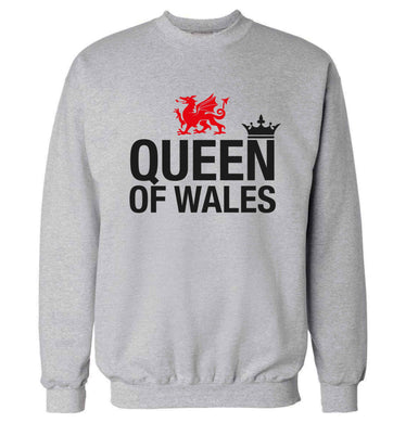 Queen of Wales Adult's unisex grey Sweater 2XL