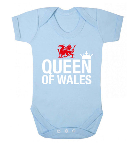 Queen of Wales Baby Vest pale blue 18-24 months