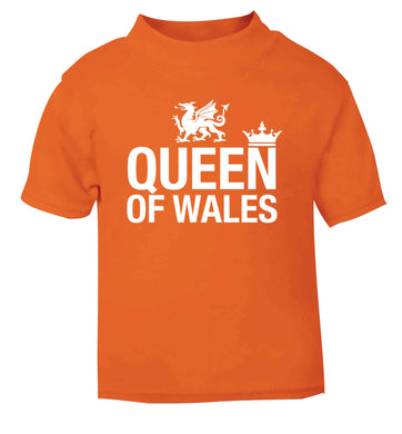 Queen of Wales orange Baby Toddler Tshirt 2 Years