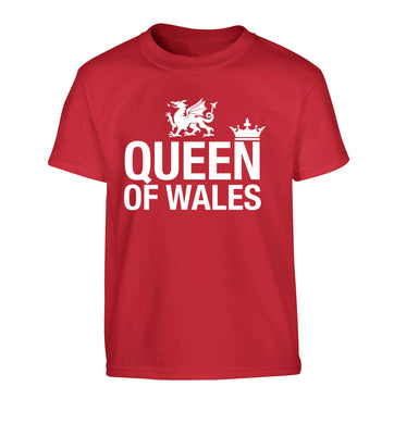 Queen of Wales Children's red Tshirt 12-13 Years
