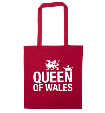 Queen of Wales red tote bag