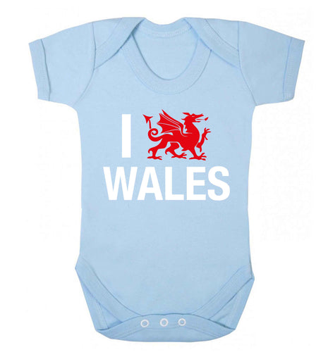 I love Wales Baby Vest pale blue 18-24 months