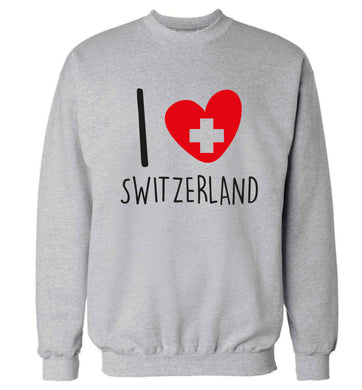 I love switzerland Adult's unisex grey Sweater 2XL