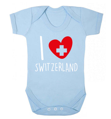 I love switzerland Baby Vest pale blue 18-24 months