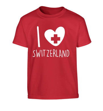 I love switzerland Children's red Tshirt 12-13 Years