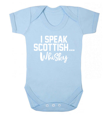 I speak scottish...whisky Baby Vest pale blue 18-24 months