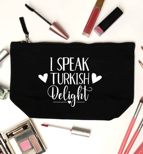 I speak turkish...delight black makeup bag
