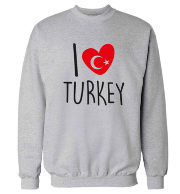 I love Turkey Adult's unisex grey Sweater 2XL