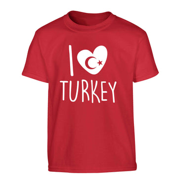 I love Turkey Children's red Tshirt 12-13 Years