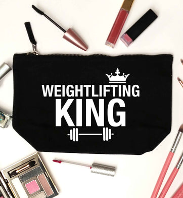 Weightlifting king black makeup bag
