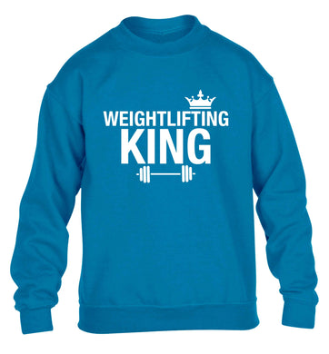 Weightlifting king children's blue sweater 12-13 Years