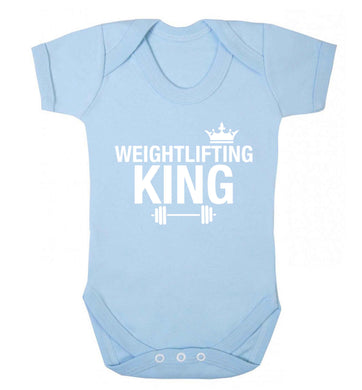 Weightlifting king Baby Vest pale blue 18-24 months