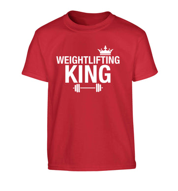 Weightlifting king Children's red Tshirt 12-13 Years