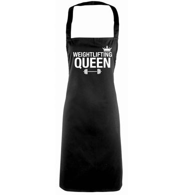 Weightlifting Queen black apron