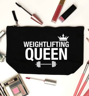 Weightlifting Queen black makeup bag