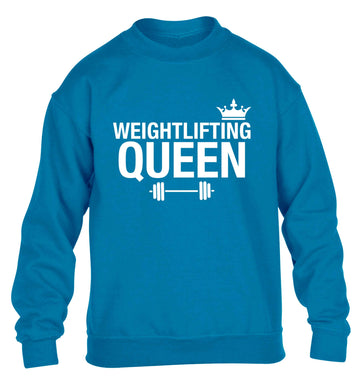 Weightlifting Queen children's blue sweater 12-13 Years