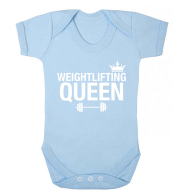 Weightlifting Queen Baby Vest pale blue 18-24 months