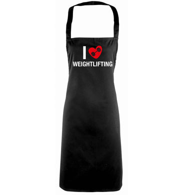 I love weightlifting black apron