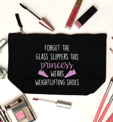 Forget the glass slippers this princess wears weightlifting shoes black makeup bag