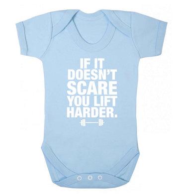 If it doesnt' scare you lift harder Baby Vest pale blue 18-24 months