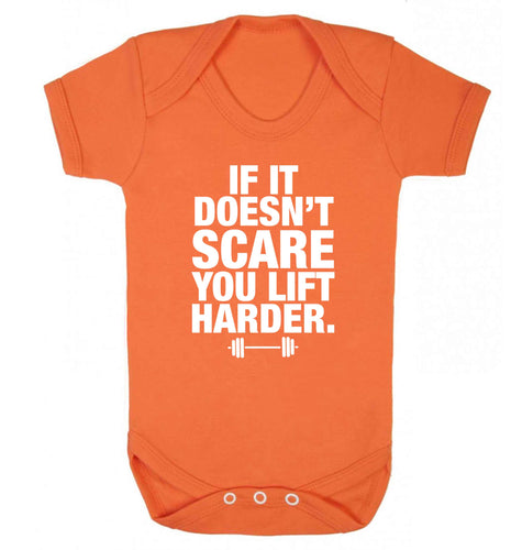If it doesnt' scare you lift harder Baby Vest orange 18-24 months