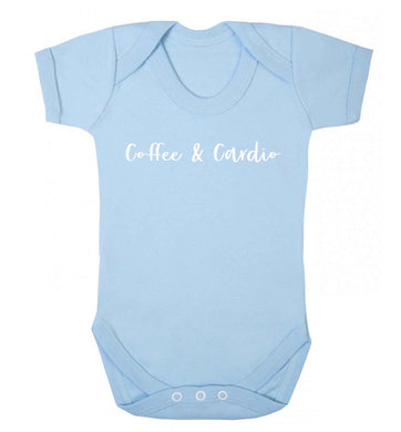 Coffee and cardio Baby Vest pale blue 18-24 months
