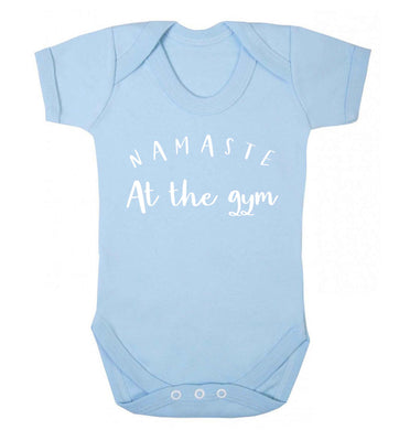 Namaste at the gym Baby Vest pale blue 18-24 months