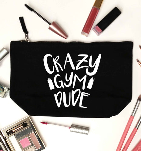 Crazy gym dude black makeup bag