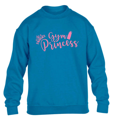 Gym princess children's blue sweater 12-13 Years