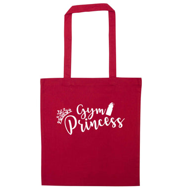 Gym princess red tote bag