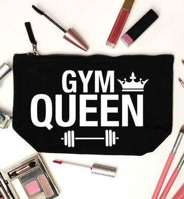 Gym queen black makeup bag
