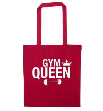 Gym queen red tote bag